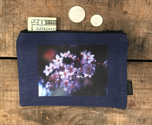 Blossoms Medium & Large Hemp Coin Purse