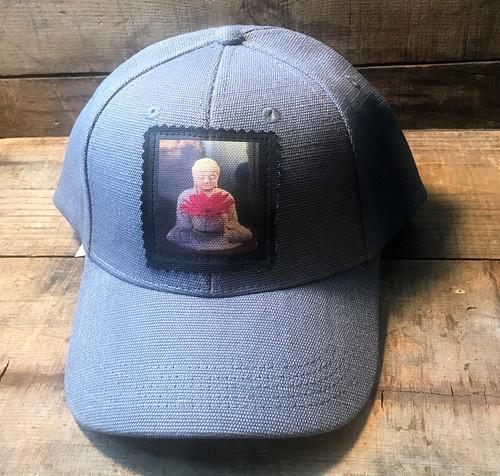 Buddha with Gerber Daisy Hemp Baseball Hat