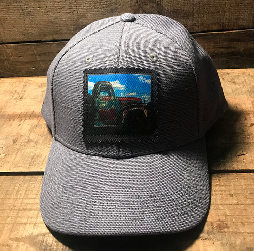 Truck in Taos (Vintage Truck)Hemp Baseball Hat