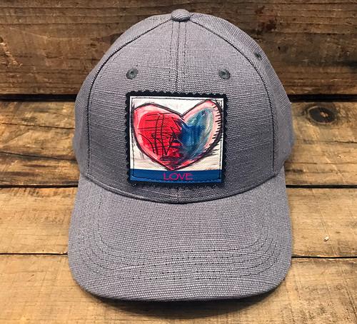 Cosmic Interlude of Love Heart Hemp Baseball Hat