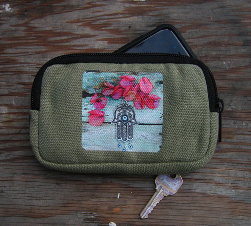 Hamsa Hemp Cell Phone/Wallet Case