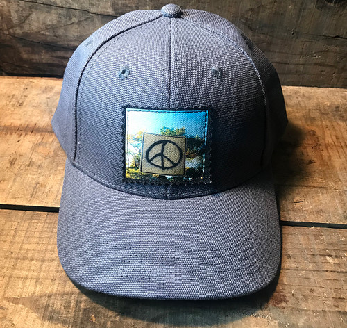 Peace Sign Taos Hemp Baseball Hat