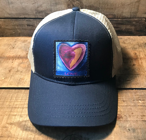 Besitos Dulces Heart (sweet kisses) Heart Keep On Truckin' Organic Cotton Trucker Hat