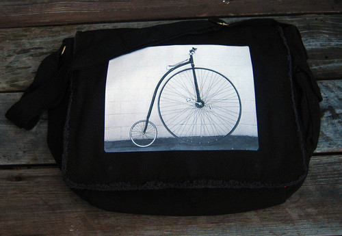 Bike-Penny Farthing front of messenger bag