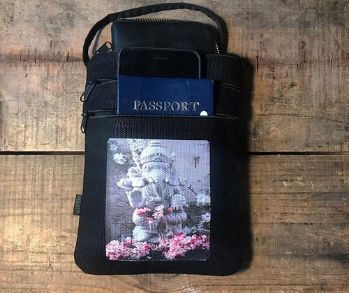 Ganesh Hemp 3 Zip Cross Body Bag/Purse