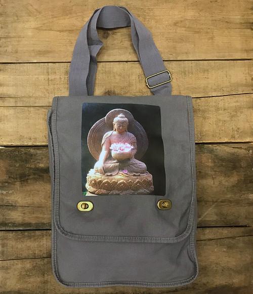 Shakyamuni Buddha Cotton Canvas Field/Messenger Bag