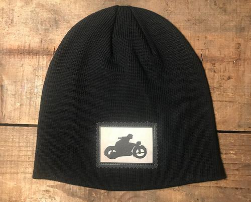 Motorcycle Symbol Organic Cotton Beanie Hat