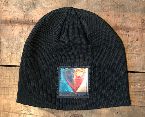 Night and Day Heart Organic Cotton Beanie Hat