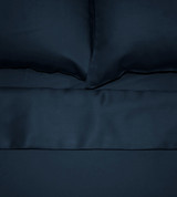 top view of midnight blue sheets