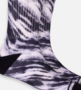 close-up on Black Tie Dye crew socks