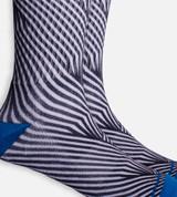 close-up on Black Geometric crew sock