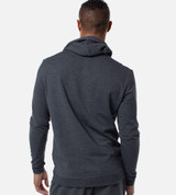 back view of guy wearing carbon heather hoodie