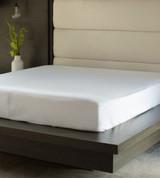 mattress protector covering a mattress