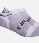 close-up on Heather Gray athletic sock