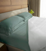 classic sheet set includes and showing a flat sheet, fitted sheet and 2 pillowcases