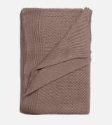 above view of beach linen knit throw