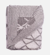 above view of Two-Tone Onyx/Harbor Gray knit throw