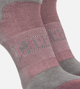 close-up on compression band middle of the rosewater women's athletic socks