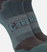 close-up of compression band middle of refresh teal athletic socks