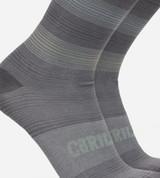 close-up on stripes blue trouser socks