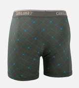back view product shot of carbon argyle boxer briefs