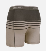 back view of product shot of shoreline gray stripe boxers briefs