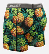 back view of pineapple printed boxers