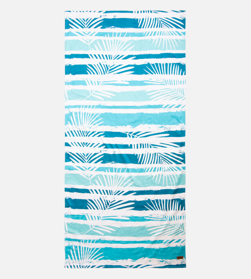 fern stripe beach towel