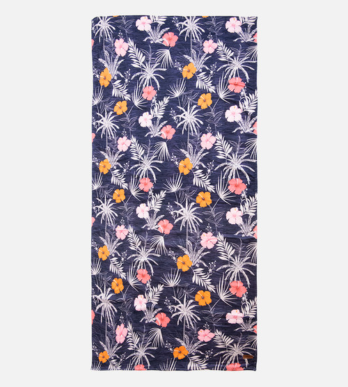 hibiscus stripe beach towel