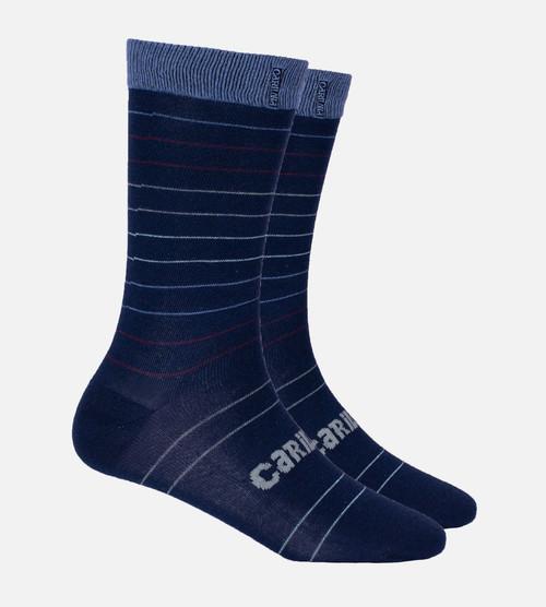 navy stripe trouser sock