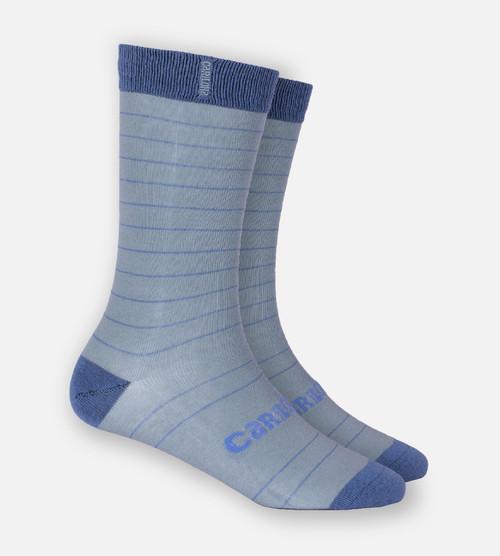 light blue stripe trouser sock