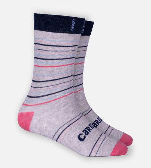 heather gray stripe trouser socks