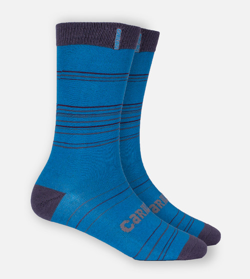 royal blue stripe trouser socks