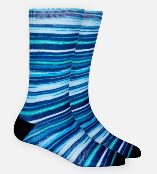 Distressed Stripe trouser sock