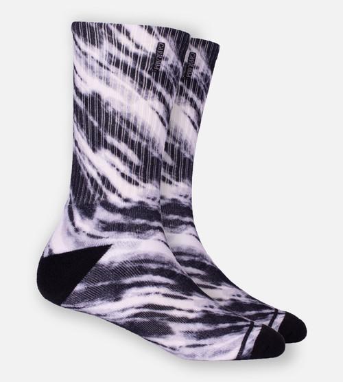 Black Tie Dye crew socks