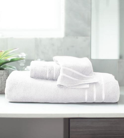 white bamboo bath towel set