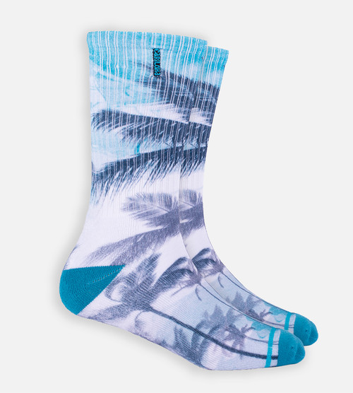 Teal Palms crew sock