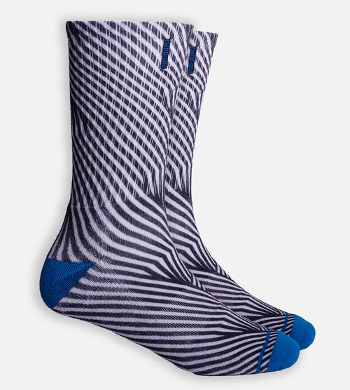 Black Geometric crew sock