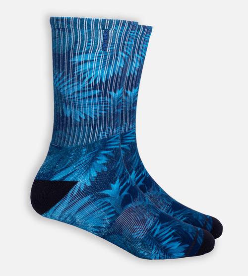 Midnight Foliage crew sock