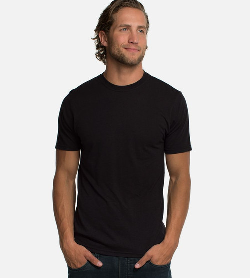 men's black bamboo crew tee