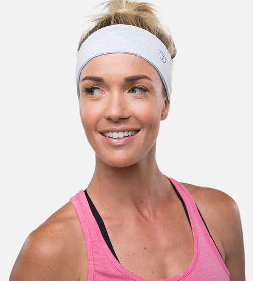 women light heather grey bamboo headband