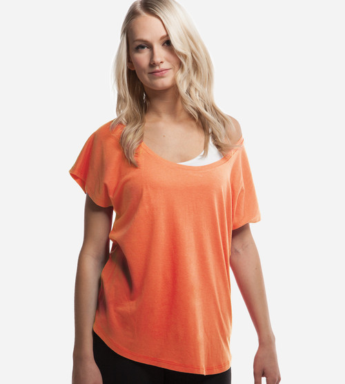 women's sunkissed coral bamboo dolman