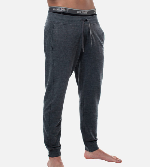 men's carbon heather bamboo jogger pant