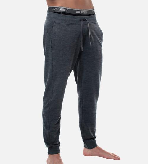men's carbon heather bamboo jogger pant