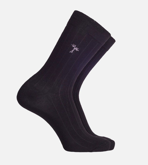 men's black bamboo trouser socks