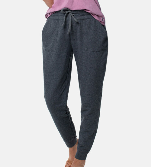 women's carbon heather bamboo jogger