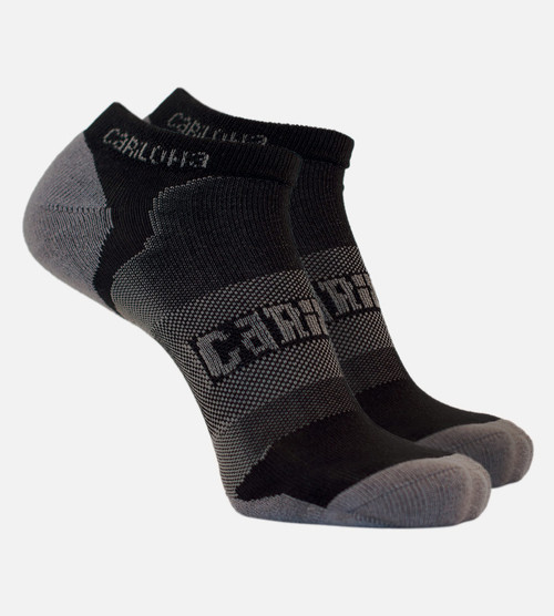 women's carbon heather bamboo athletic sock
