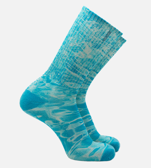 Men's bamboo printed socks featuring a pool reflection design