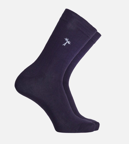 men's navy bamboo trouser socks