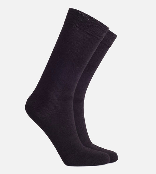 women's black bamboo trouser sock